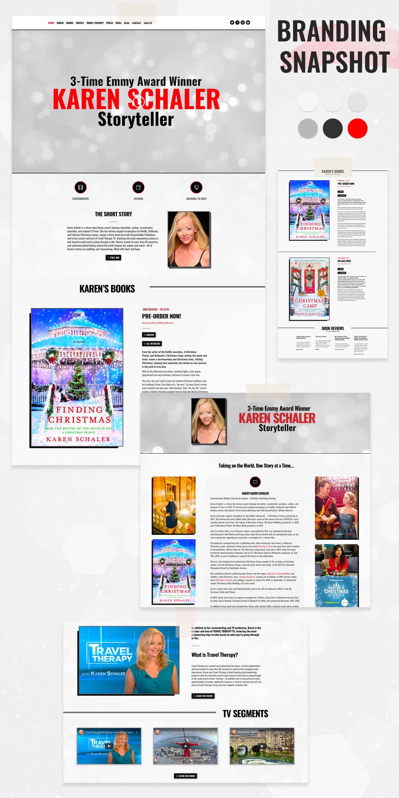 Website for 3-Time Emmy Award Winner Karen Schaler